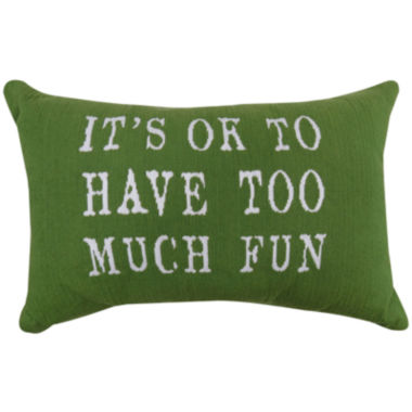 jcpenney.com | Park B. Smith® Its Okay To Have Too Much Fun Tapestry Decorative Pillow
