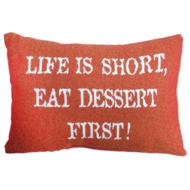 jcpenney.com | Park B. Smith® Life Is Short Eat Dessert First Tapestry Decorative Pillow