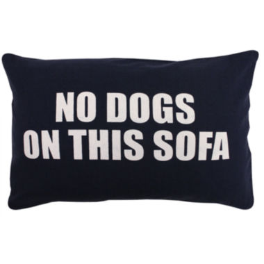 jcpenney.com | Park B. Smith® No Dogs on This Sofa Feather Decorative Pillow