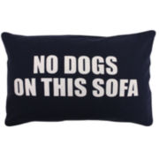 Park B. Smith® No Dogs on This Sofa Feather Decorative Pillow
