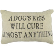 Park B. Smith®  A Dogs Kiss Feather Tapestry Decorative Pillow