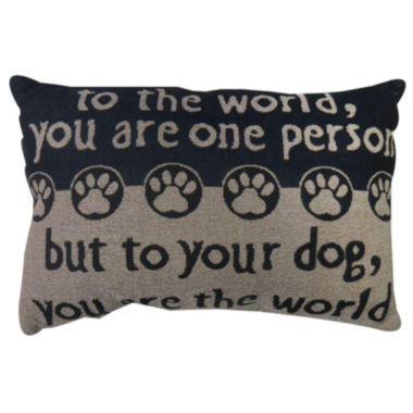 jcpenney.com | Park B. Smith® To Your Dog You are the World Tapestry Decorative Pillow