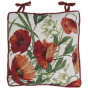 Park B. Smith® Poppies Tapestry Chair Cushion