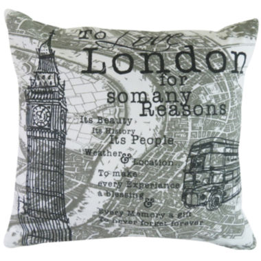 jcpenney.com | Park B. Smith® London Script Feather Decorative Pillow