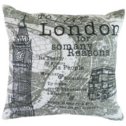 Park B. Smith® London Script Feather Decorative Pillow
