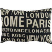 Park B. Smith® City Names Tapestry Decorative Pillow