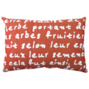 Park B. Smith® French Script Tapestry Decorative Pillow