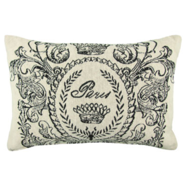 "jcpenney.com | Park B. Smith® Paris Postage Tapestry 12x18"" Decorative Pillow"