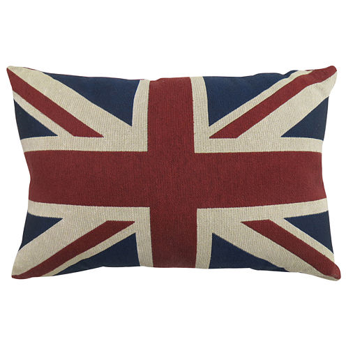 Park B. Smith® Great Britain Flag Tapestry Decorative Pillow