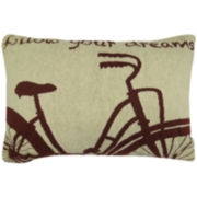 Park B. Smith® Follow Your Dreams Bike Tapestry Decorative Pillow