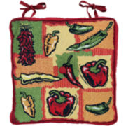 Park B. Smith® Hot Peppers Tapestry Chair Cushion