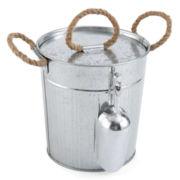 Outdoor Oasis™ Galvanized Ice Bucket with Ice Scoop