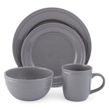 jcpenney.com | JCPenney Home™ Stoneware 4-pc. Place Settings