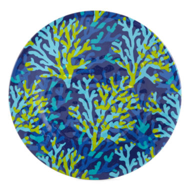 jcpenney.com | Outdoor Oasis™ Coral Set of 4 Blue Melamine Salad Plates