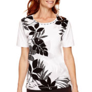Alfred Dunner® Port Antonio Short-Sleeve Printed Top