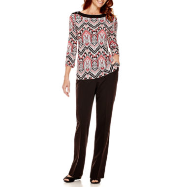 jcpenney.com | Alfred Dunner® Port Antonio Print Top or Pants