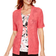 Alfred Dunner® Port Antonio Short-Sleeve Layered Top