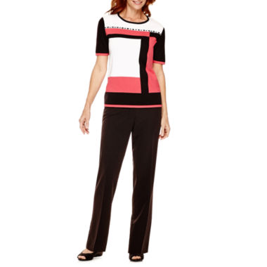 jcpenney.com | Alfred Dunner® Port Antonio Colorblock Sweater or Pants