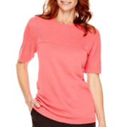 Alfred Dunner® Port Antonio Short-Sleeve Sweater Shell