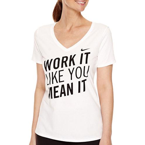 Nike® Short-Sleeve V-Neck T-Shirt