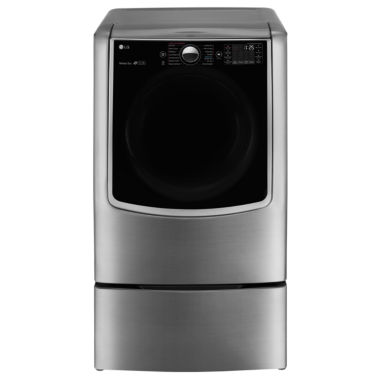 jcpenney.com | LG 9.0 cu.ft. MEGA Capacity TurboSteam® Electric Dryer w/ On-Door Control Panel