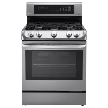 jcpenney.com | LG 6.3 cu. ft. Freestanding Oven Gas Range with ProBake Convection EasyClean® and UltraHeat Power Burner