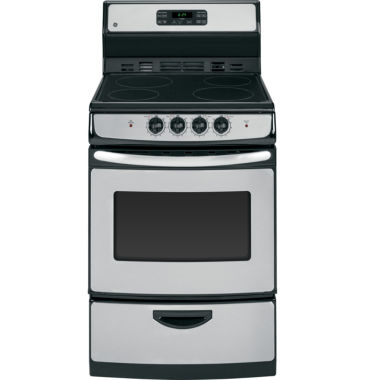 "jcpenney.com | GE® 24"" 3.0 Cu. Ft. Electric Range with Self Cleaning Oven"