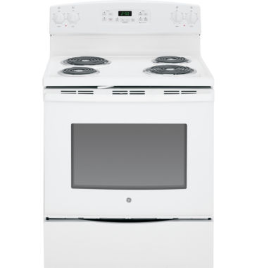 "jcpenney.com | GE® 30"" 5.3 cu ft Free-Standing Electric Range"