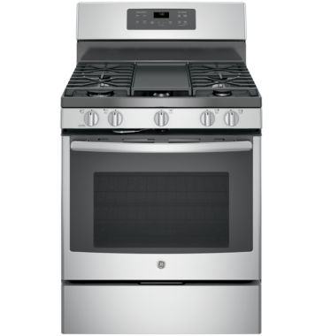 "jcpenney.com | GE® 30"" 5.0 Free-Standing Gas Convection Range"