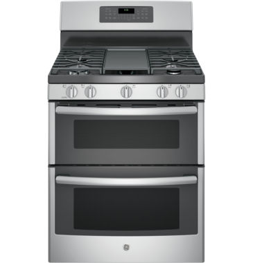 "jcpenney.com | GE® 30"" Free-Standing Double Oven Gas Range with Convection"