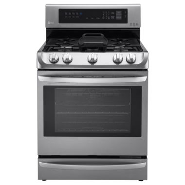jcpenney.com | LG 6.3 cu. ft. Capacity Gas Single Oven Range with ProBake Convection™, EasyClean® and Warming Drawer