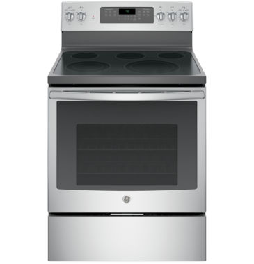 "jcpenney.com | GE® 30"" 5.3 Cu. Ft. Free-Standing Electric Range with Convection Oven"