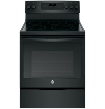 "jcpenney.com | GE® 30"" 5.3 cu ft Free-Standing Electric Convection Range"