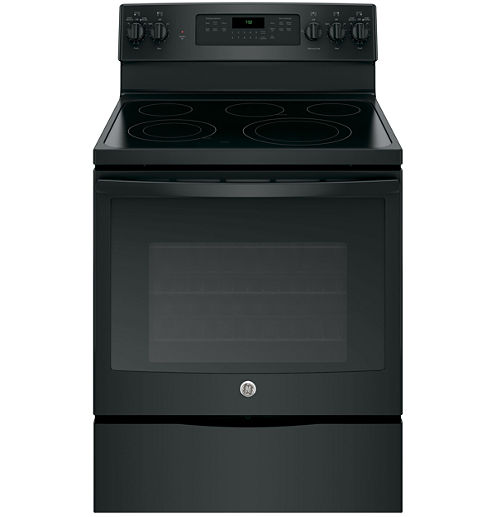 """GE® 30"""" 5.3 cu ft Free-Standing Electric Convection Range"""