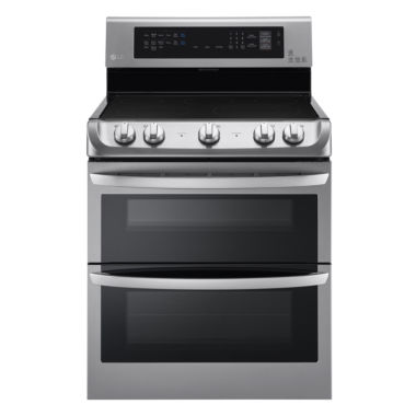 jcpenney.com | LG 7.3 cu. ft.  Freestanding Electric Double OvenRange with ProBake Convection EasyClean® and UltraHeat Element