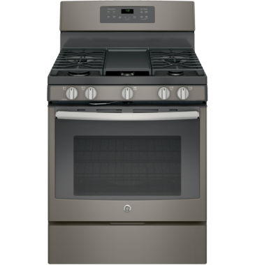 "jcpenney.com | GE® 30"" 5.0 cu ft Free-Standing Gas Convection Range"
