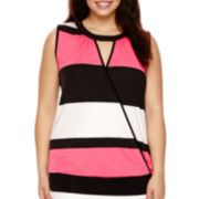 Bisou Bisou® Banded Bubble Top - Plus