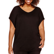 Worthington® Cap-Sleeve Tunic Top - Plus