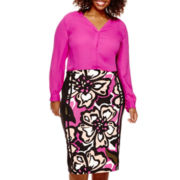 Worthington® Button-Front Blouse or Pencil Skirt - Plus