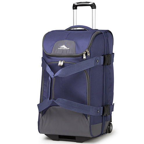 """High Sierra® Prime Access 3.5 26"""" Drop-Bottom Rolling Duffel with Carry Straps"""