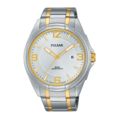 jcpenney.com | Pulsar® Easy Style Mens Two-Tone Stainless Steel Watch