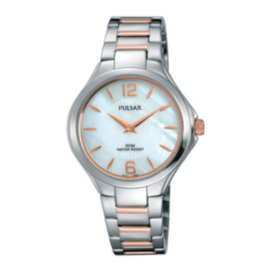 jcpenney.com | Pulsar® Ladies Night Out Womens Rose Gold Two-Tone Bracelet Watch