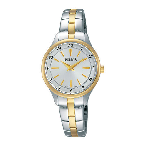 Pulsar® Womens Two-Tone Stainless Steel Bracelet Watch