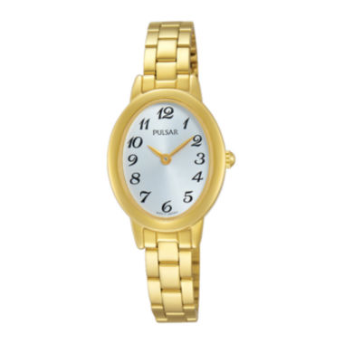 jcpenney.com | Pulsar® Womens Gold-Tone Stainless Steel Bracelet Watch
