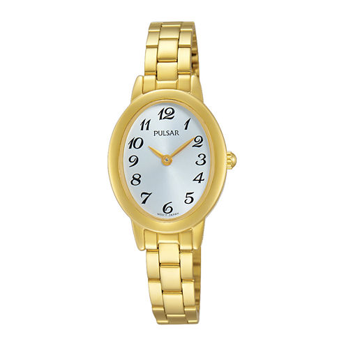 Pulsar® Womens Gold-Tone Stainless Steel Bracelet Watch