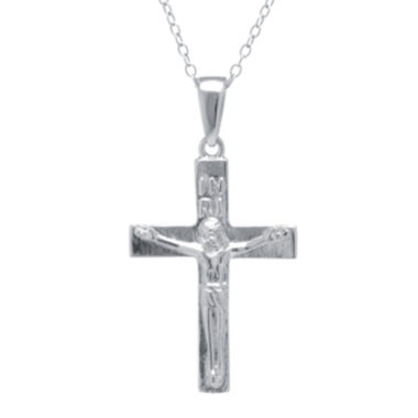 jcpenney.com | Silver Treasures™ Sterling Silver Crucifix Pendant Necklace