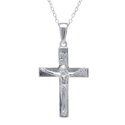 Silver Treasures™ Sterling Silver Crucifix Pendant Necklace