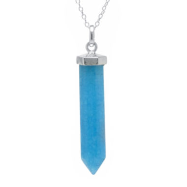 jcpenney.com | Silver Reflections™ Blue Quartz Silver-Plated Pendant Necklace