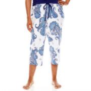 Liz Claiborne® Capri Pajama Pant - Plus