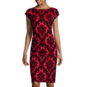 Worthington® Short-Sleeve Sheath Dress